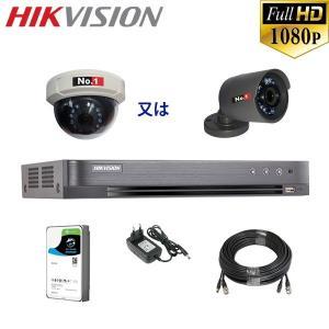 [HIKVISION][210万画素-1CH] 長時間録画用 防犯カメラ 監視カメラ 屋外 屋内 C...