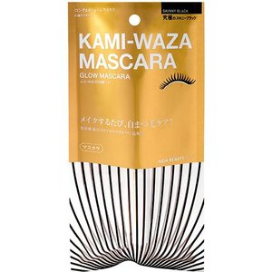 【KAMIWAZA カミワザ】KAMI-WAZA MASCARA(美容液配合 マスカラ)★メイクしながら自まつ毛ケア!|noabeauty
