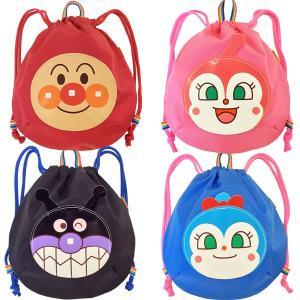 (あすつく対応)伊藤産業 011667-698 ナップサック アンパンマン 28×25cm ANN-1600 バッグ BAG リュック 子供 キッズ おでかけ キャラクター やなせたかし|noahs-ark