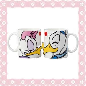■□SAN2229/sunart(サンアート) DISNEY(ディズニー) ペアマグカップ[ドナルド&デイジー/キス]□■ noahs-ark