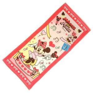 選べる3P¥1,110対象商品/Disneyフェイスタオル 「ミニー/ディズニー」53922/スポーツ/プール/水遊び/手ぬぐい/レジャー/|noahs-ark