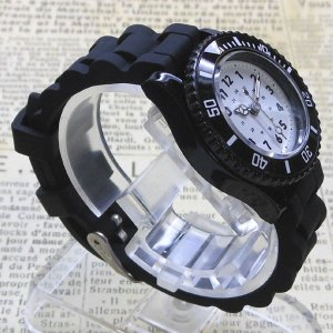 【DM便発送可】ASD035-2/【Fild work/フィールドワーク】腕時計 ファッションウォッチ(ハリボ/ブラック×ホワイト)/バンド/リスト/Watch/ファッション/ハンド noahs-ark