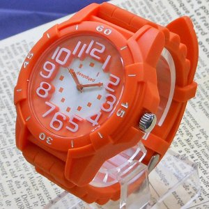 【DM便発送可】ASD036-3/【Fild work/フィールドワーク】腕時計 ファッションウォッチ ラボコン ラバーベルト(オレンジ)/バンド/リスト/Watch/ファッション noahs-ark