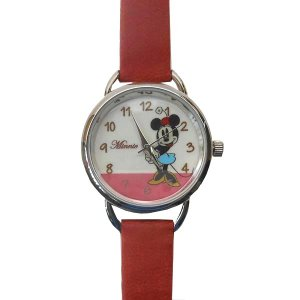 MKN011-4/【Field work/フィールドワーク】腕時計「ディズニー手書き風」(ミニー/レッド)/Disney/バンド/リスト/Watch/ファッション/ハンド noahs-ark