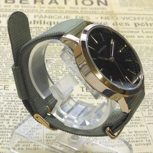 【DM便発送可】QKS137-4/【Fild work/フィールドワーク】腕時計 ファッションウォッチ「エルー」(カーキ)/バンド/リスト/Watch/ファッション/ハンド noahs-ark