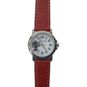 MKN009-2/【Field work/フィールドワーク】腕時計「ディズニーモノクロシルエット」(ミニー/レッド)/Disney/バンド/リスト/Watch/ファッション noahs-ark