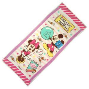 選べる3P¥1,110対象商品/Disneyフェイスタオル 「ミッキー&ミニー/ディズニー」53920/スポーツ/プール/水遊び/手ぬぐい/レジャー/|noahs-ark