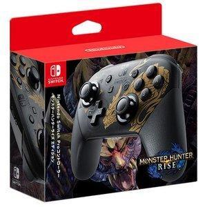 新品 送料無料 Nintendo Switch Proコントローラー モンスターハンターライズエディ...