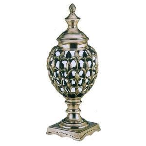 輸入雑貨 置物 飾り 香炉のデザイン アンティークシルバー色|noainterior