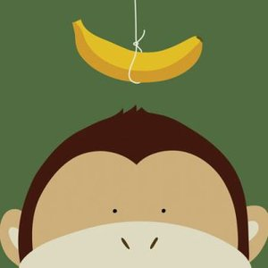 <<セール30%オフ>>輸入雑貨/壁飾り/壁掛け/猿/バナナ/油絵風/カントリースタイル noainterior