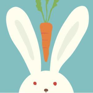≪セール30%オフ≫輸入雑貨 壁飾り ウサギ うさぎ ラビット 人参 油絵風 カントリースタイル noainterior