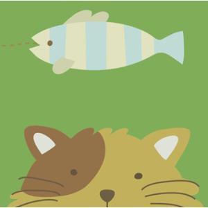 <<セール30%オフ>>輸入雑貨 壁飾り 壁掛け 猫 魚 油絵風 カントリースタイル noainterior