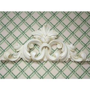 輸入雑貨 壁飾り 壁掛け ドア飾り アカンサスリーフ プロヴァンスホワイト noainterior