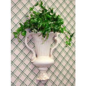 輸入雑貨 壁飾り 壁掛け 壺 花瓶 プロヴァンスホワイト noainterior