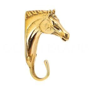 イタリア 輸入雑貨 馬 ホース タオル掛け フック コートハンガー ブラス色 真鍮 noainterior
