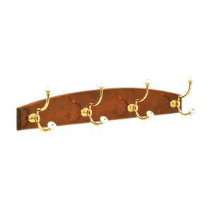 送料無料 輸入雑貨 コートフック 木製台座付き 真鍮製|noainterior