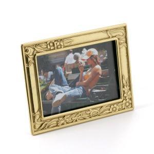 輸入雑貨 フォトフレーム 写真立て 水仙 クラッシック 真鍮 イタリア製|noainterior