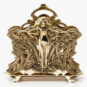 イタリア 輸入雑貨 名刺立て ビジネスカード マドンナ 女神 真鍮|noainterior