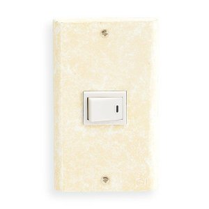 スイッチ&コンセントカバー1穴/真鍮製/古白色/アンティークホワイト/フルカラーシリーズ|noainterior