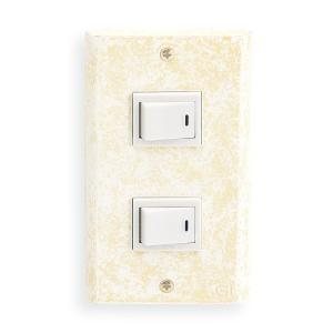 スイッチ&コンセントカバー2穴/真鍮製/古白色/アンティークホワイト/フルカラーシリーズ|noainterior