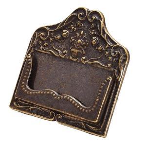 輸入雑貨 名刺立て ビジネスカード 真鍮 アンティークブラス|noainterior