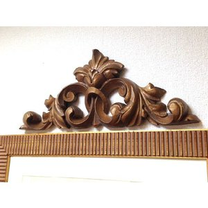 輸入雑貨 壁飾り 壁掛け ドア飾り アカンサスリーフ アンティークゴールド noainterior
