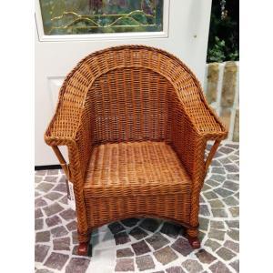 輸入家具 ロッキングチェア 揺り椅子 子供用 籐製 カントリースタイル noainterior