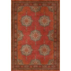 エリアラグ ペルシャ絨毯風 タブリーズ模様 赤 塩化ビニール製 178x259cm|noainterior