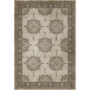 エリアラグ ペルシャ絨毯風 タブリーズ模様 ベージュ系 塩化ビニール製 178x259cm|noainterior