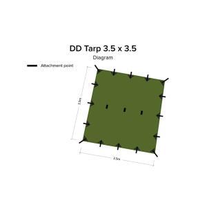 DD Tarp 3.5 x 3.5 オリーブグリーン|noasobi-ya|02