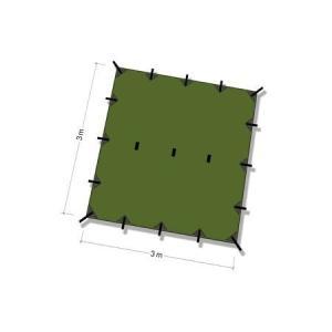 DDタープ Tarp 3x3 (オリーブグリーン)|noasobi-ya