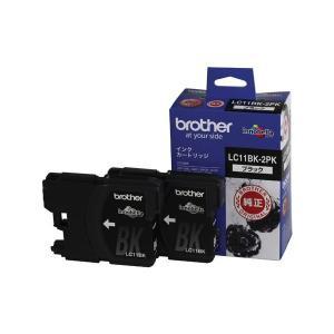 (業務用セット) ブラザー インクジェットカートリッジ LC11BK-2PK ブラック 2個パック 2個入 〔×2セット〕