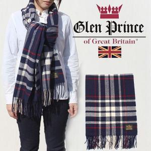 グレンプリンス 大判ストール ラムウール100% タータンチェック ネイビー Glen Prince SLW71FV2470 正規販売店/ギフト対応 noble-collection