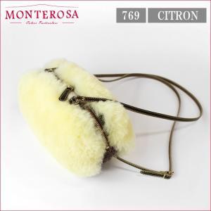 ムートンバッグ モンテローザ ムク カリソン ムートン&ニット MONTEROSA muku CALISSON NO.769 シトロン|noble-collection