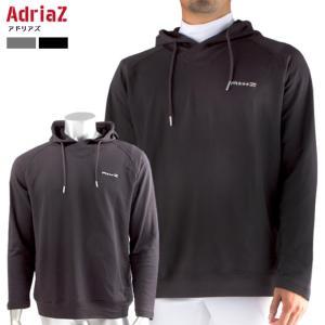 アドリアズ 裏起毛パーカー ゴルフウェア メンズ トップス ゴルフ 防寒 冬用 男女兼用 AdriaZ S〜XL 吸水 軽量 保温|noblegolf