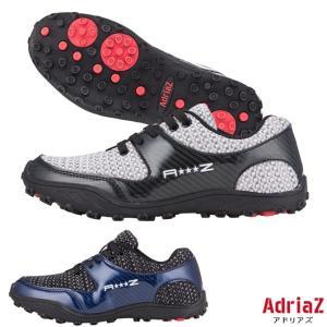 ゴルフシューズ  スパイクレス メンズ ニットシューズ アドリアズ 靴 AdriaZ 撥水 幅広 3E|noblegolf