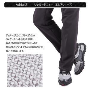 ゴルフシューズ  スパイクレス メンズ ニットシューズ アドリアズ 靴 AdriaZ 撥水 幅広 3E noblegolf 02
