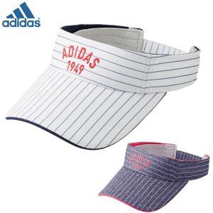 ゴルフ アディダス ストライプ サンバイザー レディース 女性用 ウィメンズ adidas CCQ79|noblegolf