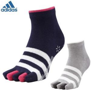 ゴルフ アディダス 靴下 5本指 ウォーム5フィンガースリーストライプ ソックス 女性用 adidas CCQ90|noblegolf