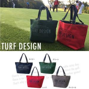 ターフデザイン ミニトートバッグ スエット素材 ゴルフ TDMT-1773 TURF DESIGN メーカー取り寄せ|noblegolf