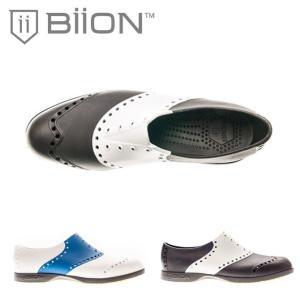 スパイクレス ゴルフシューズ Biion バイオン SADDLES 靴 雨 メンズ レディース オシャレなゴルフシューズ |noblegolf