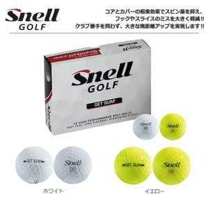 ゴルフ ボール スネルゴルフ GET SUM ゲットサム ボール 1ダース メーカー取り寄せ スネルボール|noblegolf