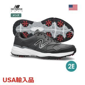 ニューバランス 2E メンズ ゴルフシューズ スパイクシューズ ブラック/ホワイト NBG1701 new balance USA直輸入品 メーカー取り寄せ品|noblegolf