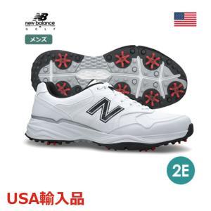 ニューバランス 2E メンズ ゴルフシューズ スパイクシューズ ホワイト/ブラック NBG1701 new balance USA直輸入品 メーカー取り寄せ品|noblegolf