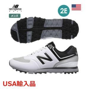 ニューバランス メンズ ゴルフシューズ スパイクレスシューズ 2E ホワイト/ブラック NBG518  new balance USA直輸入品 メーカー取り寄せ品|noblegolf