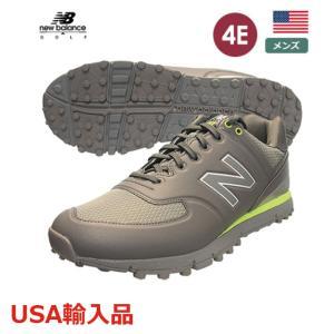 ニューバランス メンズ ゴルフシューズ スパイクレスシューズ 4E グレー/ライム NBG518  new balance USA直輸入品 メーカー取り寄せ品|noblegolf