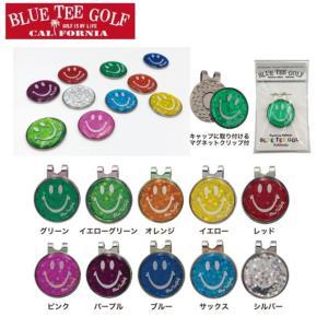 ゴルフ ホログラム クリップ&マーカー ブルーティーゴルフ ゴルフマーカー 磁石 台座付き BLUE TEE GOLF|noblegolf