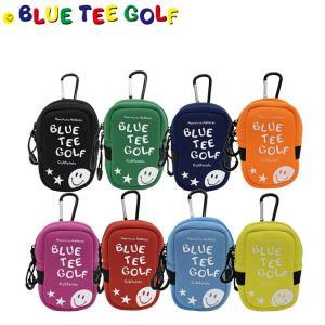 ゴルフ ストレッチ多機能ポーチ ブルーティーゴルフ ネオプレイン カラビナ付き 距離計ケース ボール...