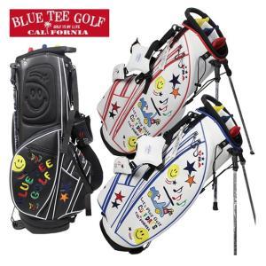 キャディバッグ スマイル&カートスタンドキャディバッグ ブルーティーゴルフ ゴルフバッグ 6分割 CB-008|noblegolf