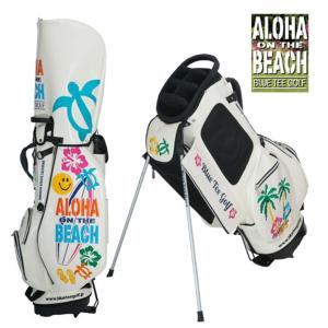 スタンドキャディバッグ エナメルバッグ ブルーティーゴルフ 限定生産 アロハオンザビーチ 9インチ BTG-CB011|noblegolf